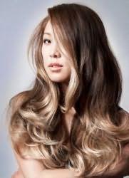Балаяж на довге волосся