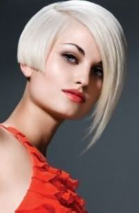 стрижка боб для попелястого кольору волосся