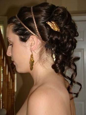 зачіски з грецької пов`язкою на довге волосся