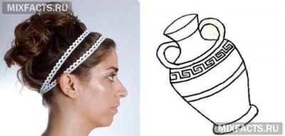 Як робити грецьку зачіску з пов`язкою?