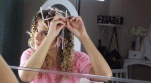 Крутимо волосся на пластикові трубочки