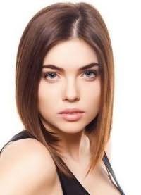 красиві стрижки на середні волосся без чубчика 4