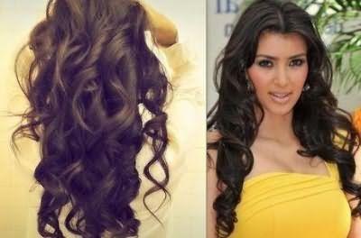 Великі локони на довге волосся