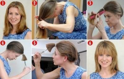 Стрижка каскад на середні волосся