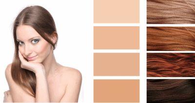 Колір волосся для цветотипа осінь.