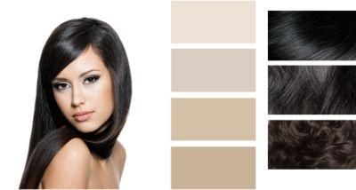 Колір волосся для цветотипа зима.
