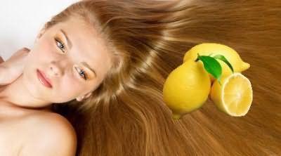 Освітлення волосся за допомогою лимона