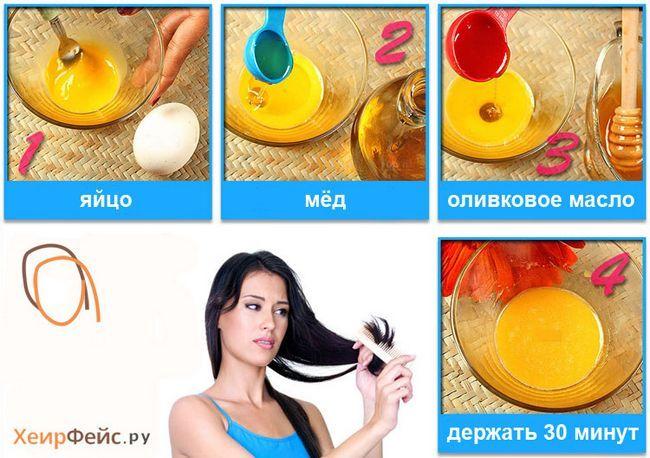 Маска для кінчиків волосся