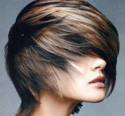 Мелірування на чорне довге волосся