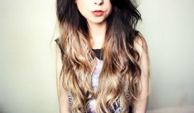 Омбр на темні довге волосся фото