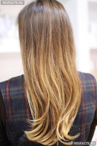Фарбування омбре на русяве волосся