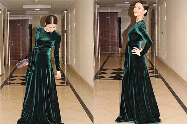 Сукня з оксамиту - модні оксамитові тенденції