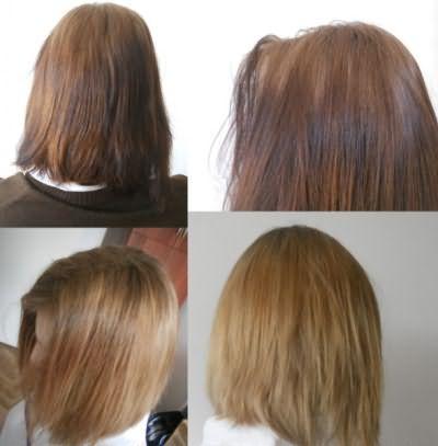 Освітлення пергідролем своїми руками дає швидкий результат, але негативно позначається на якості волосся