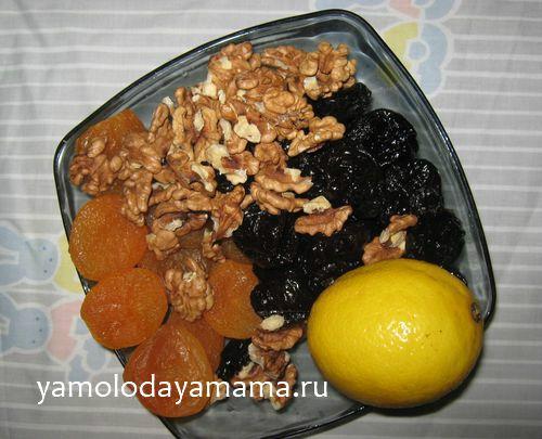 Користь вітамінної суміші із сухофруктів і меду з горіхами