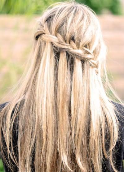 Плетіння водоспаду на довге волосся відео