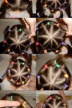 У цій зачісці головне - чітко робити проділи