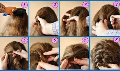 прості зачіски для дівчаток на кожен день поетапно