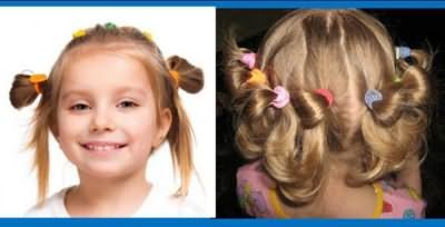 прості зачіски для маленьких дівчаток на кожен день на середні волосся