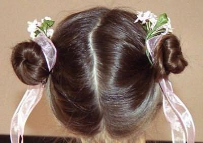 прості зачіски для маленьких дівчаток на кожен день