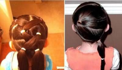 прості зачіски для дівчаток на кожен день в школу