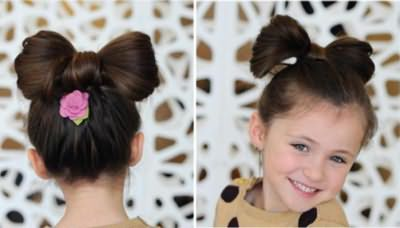 прості зачіски для маленьких дівчаток на кожен день покроково