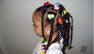 прості зачіски для дівчаток з кісок