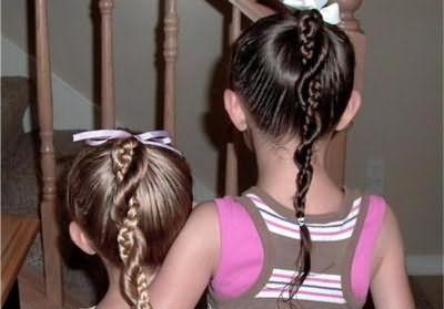 прості зачіски для дівчаток на кожен день в школу з кісок