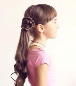 Коса навколо хвоста