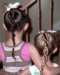 Зачіски для дівчаток в садок
