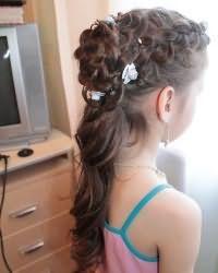 Зачіски для дівчаток в садік6
