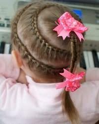 Зачіски для дівчаток в садік7