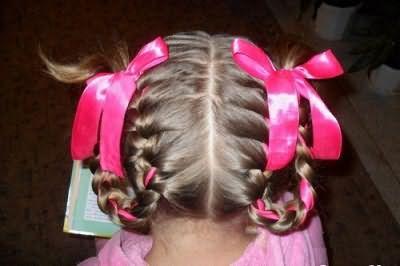 Зачіска з бубликами