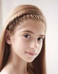 Оригінальна зачіска для дівчинки з довгим волоссям
