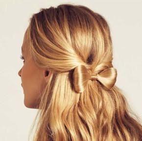зачіски для дівчаток на довге волосся бант