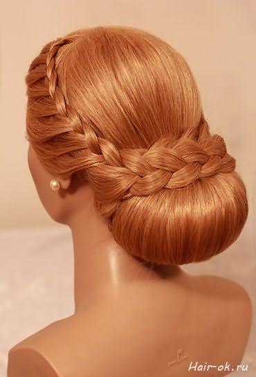 Красива коса на довге волосся фото