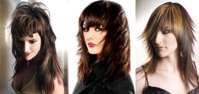Зачіски на довге темне волосся
