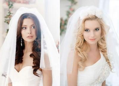 Зачіски на довге волосся фото на весілля