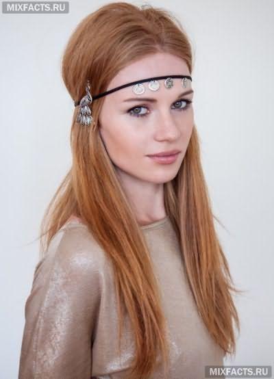 Зачіски з пов`язкою на довге волосся