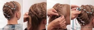 Кіски на коротке волосся: покрокова інструкція з фото