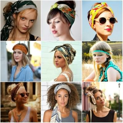 Зачіски з шарфом на голові