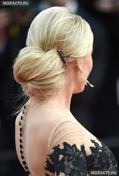 Зачіски пучки на середні волосся