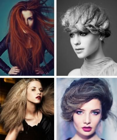 Гофре на довге волосся