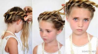 Зачіска для дівчаток на кожен день