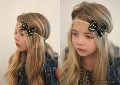 Зачіска з гумкою на довге волосся