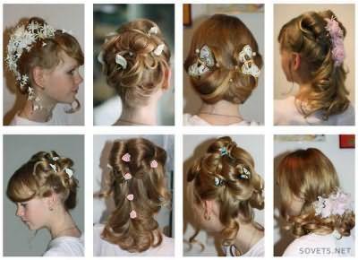 Варіанти святкових зачісок для дівчаток
