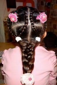 Зачіска з косами на 1 вересня
