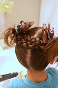 Оригінальна зачіска з косами
