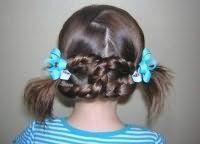 Зачіска на довге волосся на 1 вересня