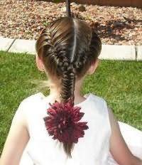 Варіант зачіски з плетінням для довгого волосся