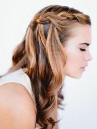 Коса водоспад на довге волосся.